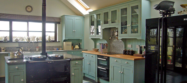 Kitchen island ideas on pinterest - Farmhouse style kitchen cabinets ...